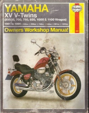 Yamaha XV V-Twins XV535,700,750,920,1000 & 1100 viragos Owners Workshop Manual 1981-1994