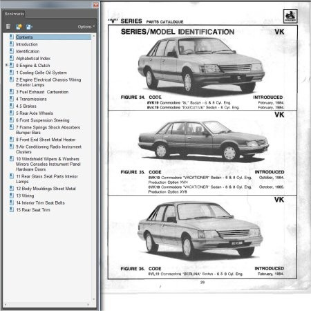 HOLDEN COMMODORE VB VC VH VK PARTS BOOK BROCK SS HDT Parts Book Parts Catalogue Parts Catalog