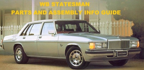 HOLDEN WB STATESMAN PARTS CATALOGUE