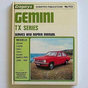 GEMINI 4 Cylinder TX 1975-1976 Isuzu Workshop Manual