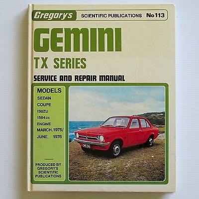 GEMINI 4 Cylinder TX 1975-1976 Isuzu Workshop Manual