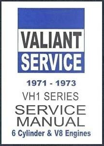 CHRYSLER VALIANT VH CH WORKSHOP MANUAL CHARGER 1971-72