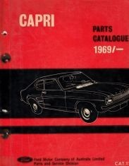 FORD CAPRI 1969-1970 PARTS BOOK CATALOGUE