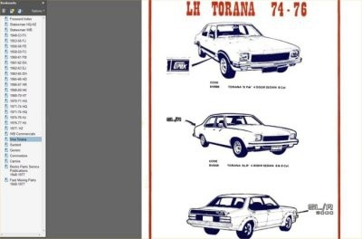 GMH IDENTIFICATION GUIDE HOLDEN MONARO GTS TORANA A9X