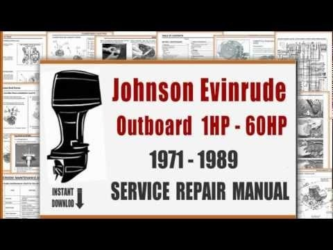 1971-1989 Johnson Evinrude Outboard 1Hp-60Hp Service Repair Workshop Manual