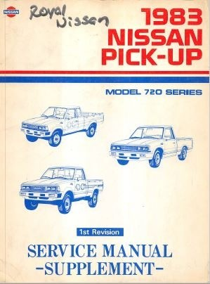 Nissan Pick-Up 1983 Model 720 Service Manual Supplement