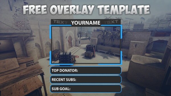 Free Twitch Overlay Streaming Template