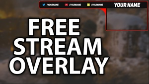 Free Stream Overlay Template - Basic