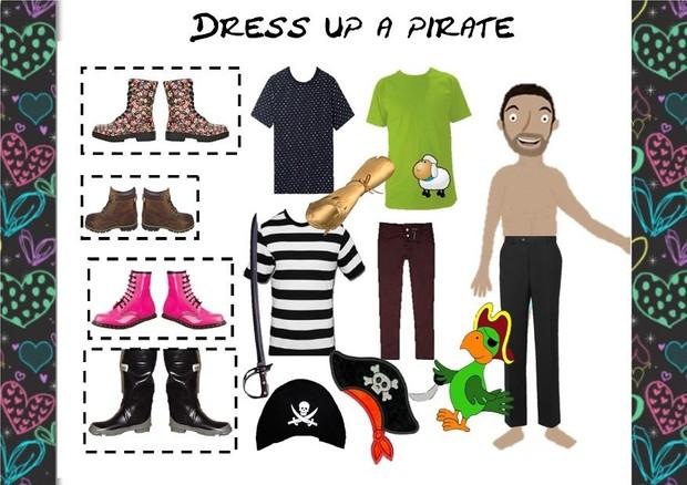 Pirate Teaching Activity Dress up a Pirate