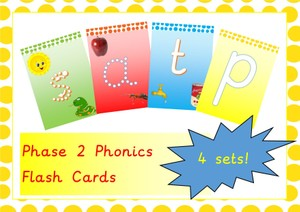 Phonics Phase 2 Flash Cards