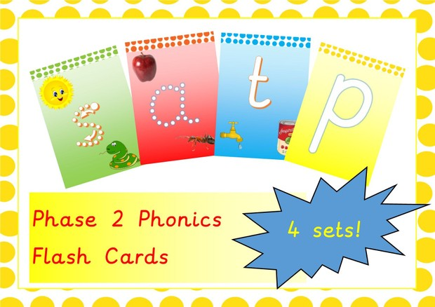 Phonics Phase 2 Flash Cards