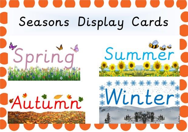 Four Seasons Display Cards
