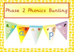 Phonics Phase 2 Display Bunting