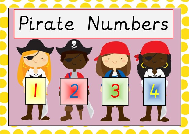 Pirate Number Line 0-20
