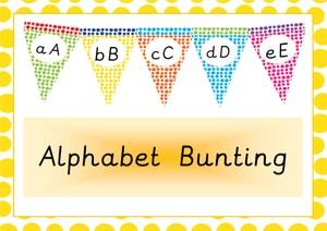 Alphabet Bunting Alphabet Classroom Display