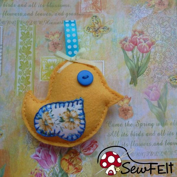 Free Felt Bird Ornament Pattern Template: Make a Songb ...
