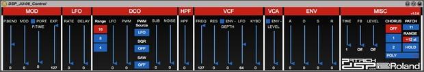 DSP Roland JU-06 Control v1.0.6