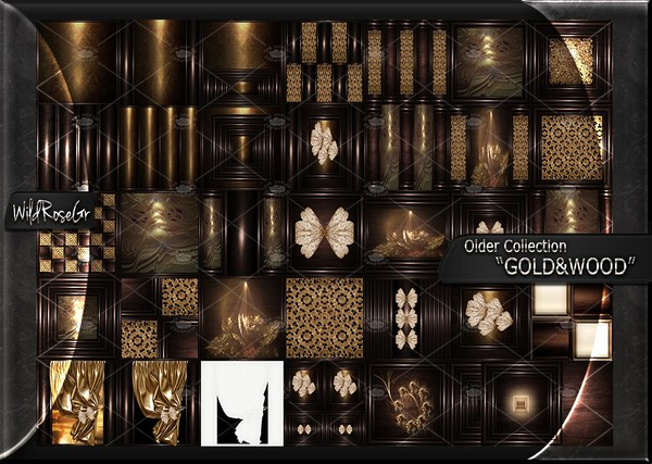 "OLDER COLLECTION "" GOLD&WOOD """
