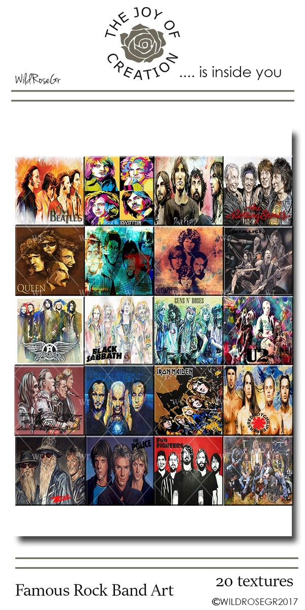 FAMOUS ROCK BAND ART