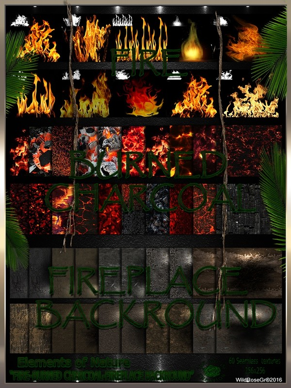 ~ ELEMENTS OF NATURE~ SUMMER EDITION [FIRE-CHRACOAL-FIREPLACE BACKROUNDS]