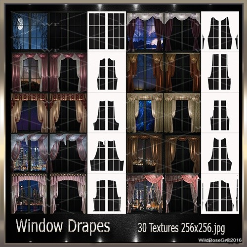 ~ WINDOW DRAPES TEXTURE PACK ~