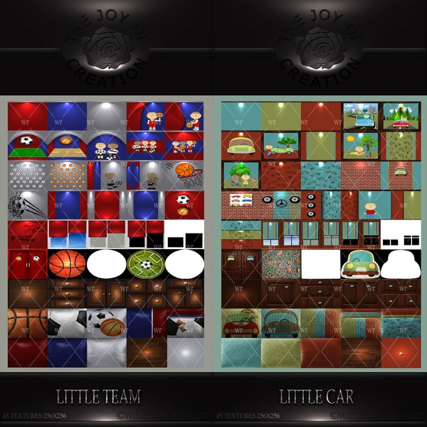 LITLLE CAR & LITTLE TEAM TEXTURE PACKS