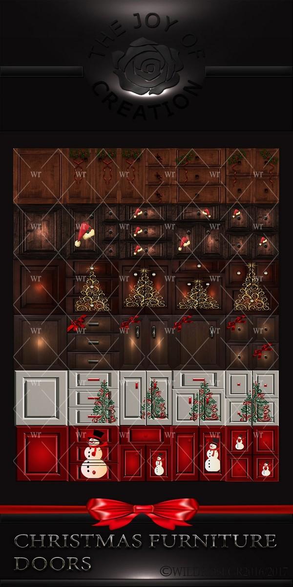 CHRISTMAS FURNITURE DOORS
