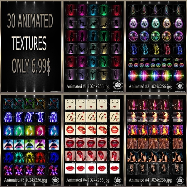 ~ ANIMATED IMVU TEXTURE FAT PACK ~
