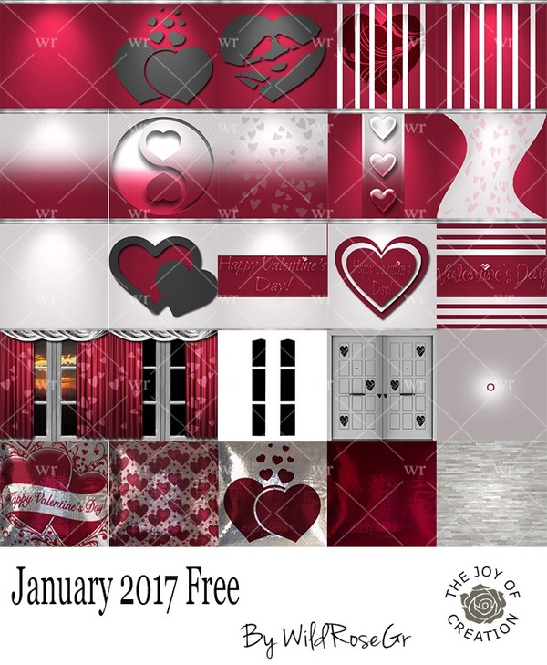JANUARY 2017 FREE TEXTURE PACK