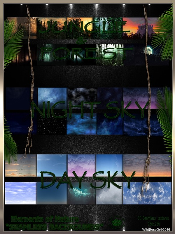 ~ ELEMENTS OF NATURE~ SUMMER EDITION [JUNGLE-FOREST-NIGHT/DAY SKY BACKROUNDS]