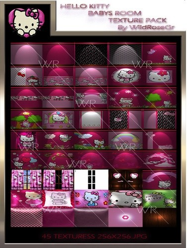 ~ HELLO KITTY BABYS ROOM IMVU TEXTURE PACK ~