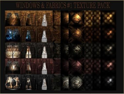 ~ WINDOW&FABRICS #1 IMVU TEXTURE PACK ~