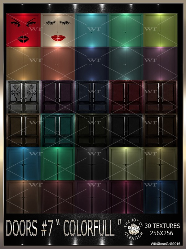 "~DOORS #7 "" COLORFULL "" TEXTURE PACK ~"