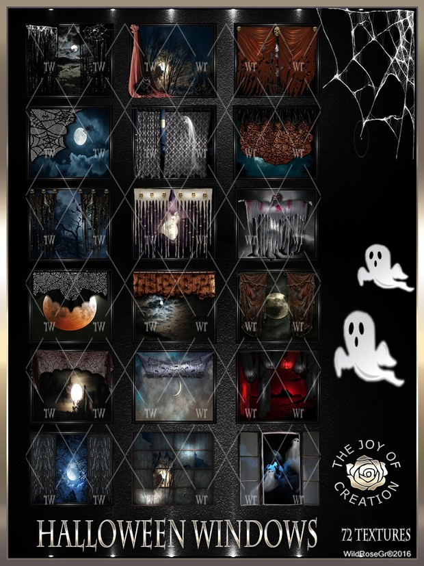~ HALLOWEEN WINDOWS TEXTURE PACK ~
