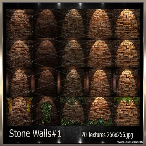 ~ STONE WALLS#1  TEXTURE PACK ~