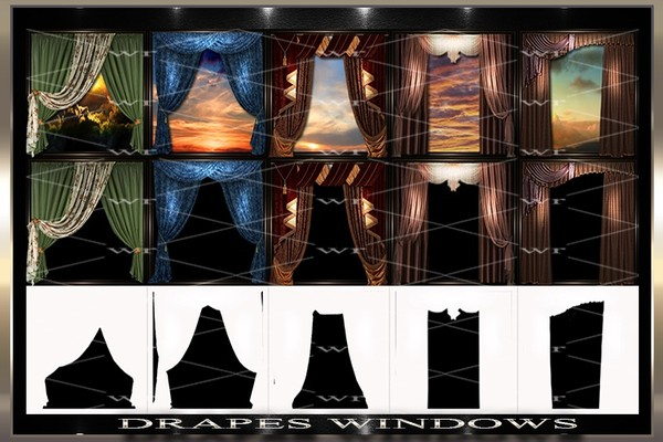 ~ DRAPES WINDOWS IMVU TEXTURE PACK ~
