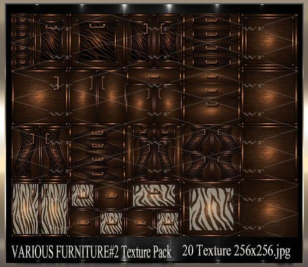 ~ VARIOUS FURNITURE DOORS #2 IMVU TEXTURE PACK ~