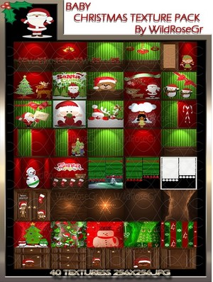 ~ BABY CHRISTMAS ROOM IMVU TEXTURE PACK ~
