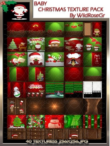 ~ BABY CHRISTMAS ROOM IMVU TEXTURE PACK ~