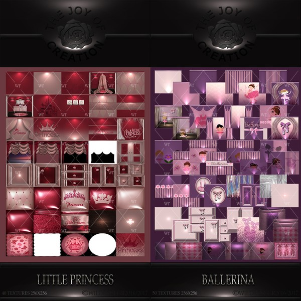 LITTLE PRINCESS & BALLERINA TEXTURE PACKS
