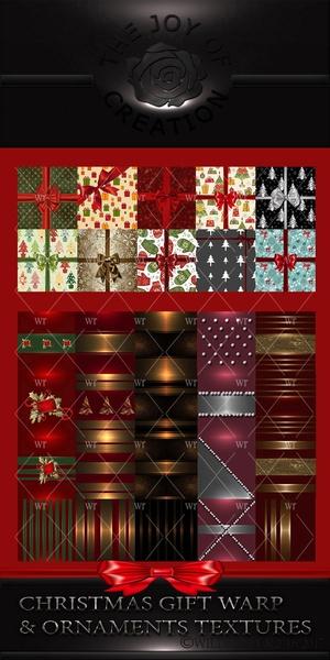 CHRISTMAS GIFT WARP & ORNAMENTS TEXTURES