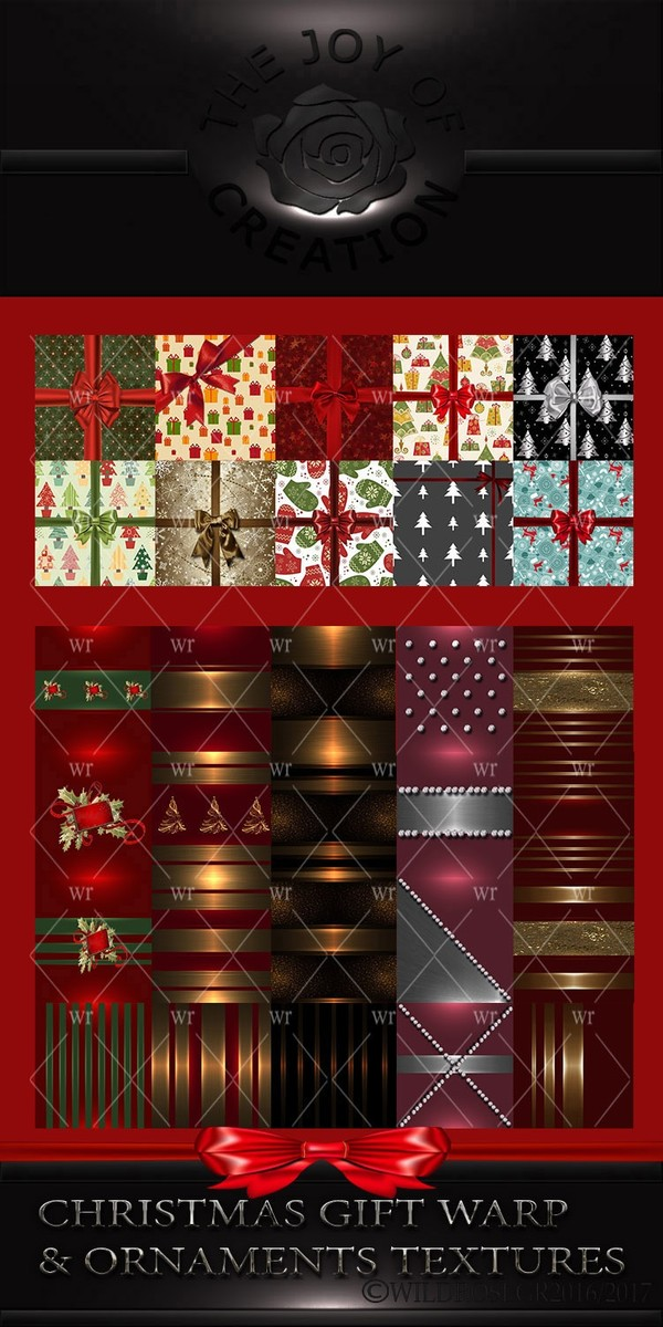 CHRISTMAS GIFT WARP & ORNAMENTS TEXTURES