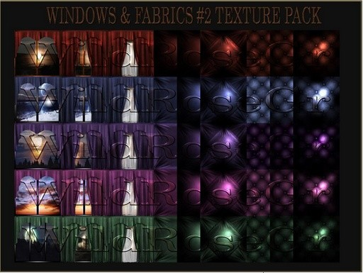~ WINDOW&FABRICS #2 IMVU TEXTURE PACK ~