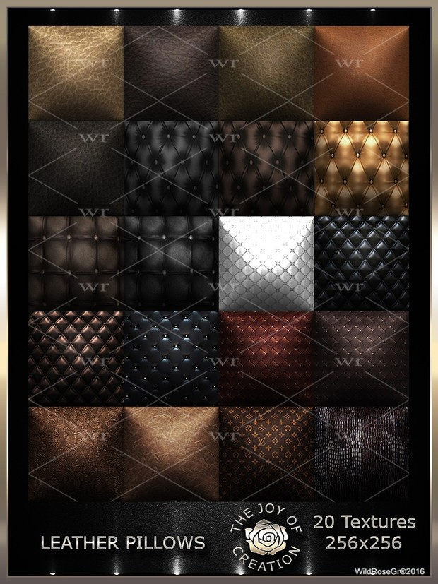 ~ LEATHER PILLOWS ~