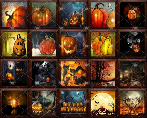 "OLDER COLLECTION "" THE PUMPKIN WALL ART """