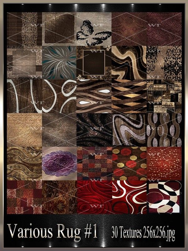~ VARIOUS RUG #1  TEXTURE PACK ~