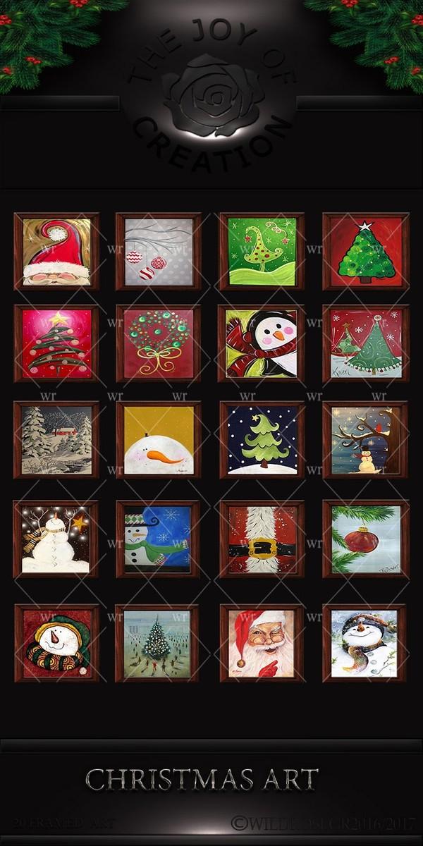 CHRISTMAS ART PAINTINGS