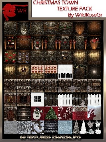 Christmas Town Texture Pack Wildrosegr