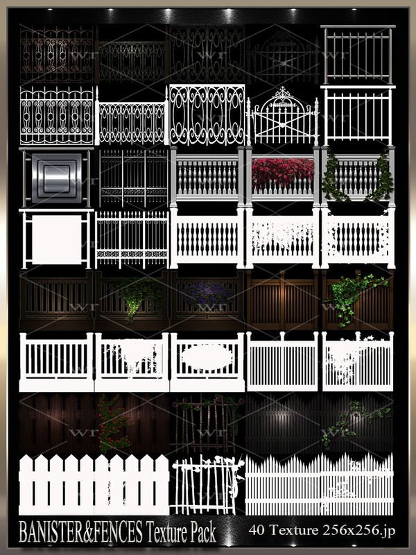 ~ BANISTER&FENCES IMVU TEXTURE PACK ~
