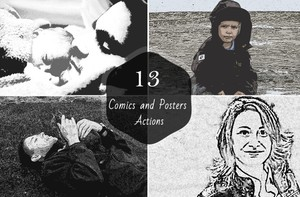 13 Comics and Posters Photoshop Actions